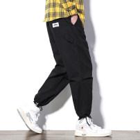 Casual pants Others Youth fashion Black, apricot M,L,XL,2XL,3XL,4XL,5XL trousers motion easy N3-2-K236 tide