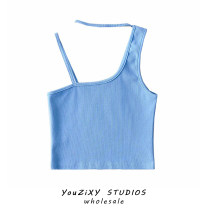 Vest sling Summer 2021 blue , white , green , Orange , Light grey , dark grey , black , Apricot S, M singleton  have cash less than that is registered in the accounts Self cultivation street camisole Solid color other