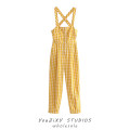 Casual pants yellow XS,S,M,L Summer 2021 trousers rompers High waist street routine Europe and America Asymmetry