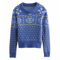 Wool knitwear Winter of 2019 S,M,L blue Long sleeves singleton  other 71% (inclusive) - 80% (inclusive) Regular routine street easy Socket Splicing Europe and America