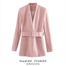 suit Summer 2020 Jacket, pants XS,S,M,L Long sleeves routine Self cultivation Frenulum street lattice Lace up, stitching