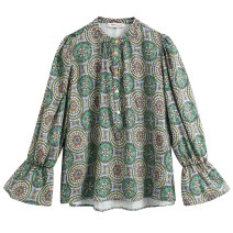 shirt Decor XS,S,M,L other 81% (inclusive) - 90% (inclusive) Long sleeves street Regular stand collar Single row multi button pagoda sleeve other Straight cylinder Europe and America