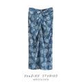 skirt Summer 2021 XS,S,M,L Decor Short skirt street High waist A-line skirt Decor Stitching, folding Europe and America