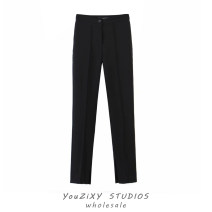 Casual pants black S,M,L Summer 2021 trousers Wide leg pants High waist street routine Europe and America Asymmetry
