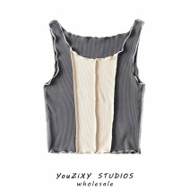 Vest sling Summer 2021 blue , grey , brown S,M,L singleton  have cash less than that is registered in the accounts Self cultivation street I-shaped 51% (inclusive) - 70% (inclusive) fungus