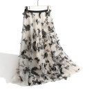 skirt Spring 2020 S,M,L,XL Dark grey, off white Mid length dress dream Natural waist A-line skirt Animal design Type A 25-29 years old More than 95% Lace Other / other polyester fiber 201g / m ^ 2 (including) - 250G / m ^ 2 (including)
