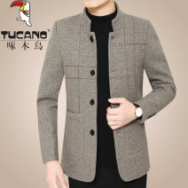 Jacket Tucano / woodpecker Fashion City 3316 light brown, 3316 light gray, 3316 dark gray, 35 khaki, 35 gray white, 34 gray, 34 Khaki 170/M,175/L,180/XL,185/XXL,190/3XL,195/4XL thin standard go to work spring Polyester 64% wool 36% Long sleeves Wear out stand collar Business Casual middle age routine