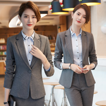 Professional pants suit S,M,L,XL,XXL,XXXL,4XL Spring 2020, winter 2020, autumn 2020 Shirt, coat Long sleeves trousers You Feiniao 25-35 years old 91% (inclusive) - 95% (inclusive)