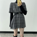 Dress Spring 2021 Picture color S,M,L Short skirt singleton  Short sleeve commute Crew neck High waist other Socket other other Others 18-24 years old Other / other Korean version More than 95%