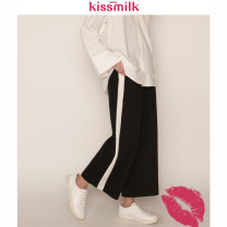 Women's large Autumn of 2018 black US14,US16,US18,US20,US22 trousers singleton  commute Simplicity D44R52K18 kiss milk 18-24 years old trousers