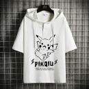 T-shirt Youth fashion White black routine M L XL 2XL 3XL 4XL 5XL NCTTG elbow sleeve Hood easy Other leisure spring E-commerce a040a-ld54078 Cotton 100% teenagers routine Exquisite Korean style Sweat cloth Spring 2021 Cartoon animation printing cotton Cartoon animation No iron treatment More than 95%