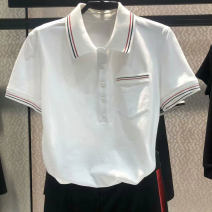 T-shirt white 2 = s, 3 = m, 4 = L, 5 = XL Summer 2021 Short sleeve Polo collar Self cultivation Regular routine commute cotton 31% (inclusive) - 50% (inclusive) Ol style Pinge Dixin