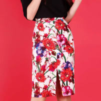 skirt Spring 2021 1 = XS, 2 = s, 3 = m, 4 = L, 5 = XL Decor Middle-skirt Versatile Natural waist skirt Decor Type H 81% (inclusive) - 90% (inclusive) other O'amash banner cotton