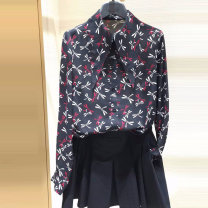 shirt As shown in the figure 2 = s, 3 = m, 4 = L, 5 = XL Spring 2021 other 96% and above Long sleeves Versatile Regular Polo collar Single row multi button routine other Straight cylinder O'amash banner