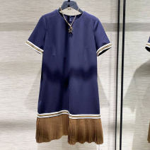 Dress Summer 2021 Splicing 2 = s, 3 = m, 4 = L, 5 = XL Middle-skirt singleton  Short sleeve commute Crew neck other Socket Pleated skirt routine Others Type H Pinge Dixin Ol style 31% (inclusive) - 50% (inclusive) other other