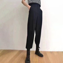 Casual pants black 1 = XS, 2 = s, 3 = m, 4 = L, 5 = XL Spring 2021 trousers Straight pants High waist commute routine 71% (inclusive) - 80% (inclusive) Pinge Dixin other Ol style