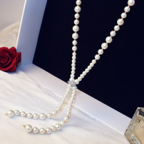 Necklace Alloy / silver / gold 30-39.99 yuan Other / other White, champagne brand new Japan and South Korea female goods in stock yes Fresh out of the oven 81cm and above no nothing Not inlaid alloy other Round bead chain