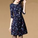 Dress Autumn of 2019 blue L,S,XL,2XL,M