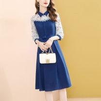 Dress Autumn 2020 blue S,M,L,XL,2XL