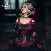 Lolita / soft girl / dress Classic doll Red and black S [spot], m [spot], l [spot]