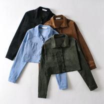 Casual suit Autumn 2020 Black top, blue top, khaki top, army green top, black skirt, blue skirt, Khaki Skirt, army green skirt S,M,L 30% and below
