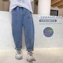 trousers Haima house male 100cm,110cm,120cm,130cm,140cm,150cm,160cm blue spring and autumn trousers Korean version There are models in the real shooting Jeans Leather belt middle-waisted cotton Don't open the crotch Cotton 64.3% polyester 29.9% viscose 4.1% polyurethane elastic 1.7% 21aj01 Class B