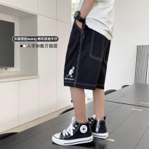 trousers Haima house male 110cm,120cm,130cm,140cm,150cm,160cm Black, white summer Pant Korean version There are models in the real shooting Casual pants Leather belt middle-waisted cotton Don't open the crotch Cotton 100% 21bj04 Class B 2, 3, 4, 5, 6, 7, 8, 9, 10, 11 Chinese Mainland Jiangsu Province