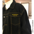 Jacket Welenaga Youth fashion black M,L,XL routine easy Other leisure autumn Long sleeves Wear out Lapel tide routine Single breasted routine Solid color cotton pocket cotton