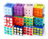 Rubik's Cube Plastic toys Gan Chinese Mainland 8, 9, 10, 11, 12, 13, 14, over 14 Third order Over 14 years old Third order Plastic Rubik's Cube nothing