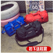 Travel bag No Other / other Nylon Big black blue red Casual Bag type Soft handle fashion Double root Yes Vintage print Nylon youth Stylish simplicity two trillion and two billion two hundred and twenty-four million three hundred and six thousand five hundred and twenty-six