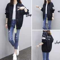 short coat Autumn 2020 S,M,L,XL,2XL,3XL,4XL black Long sleeves routine routine singleton  easy Original design routine Crew neck zipper letter 18-24 years old Other / other 51% (inclusive) - 70% (inclusive) Pocket, thread, zipper, print polyester fiber