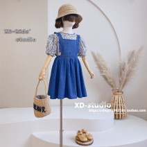 suit Other / other Denim blue suit (in stock) Size 110 (recommended height is about 110cm), Size 120 (recommended height is about 120cm), Size 130 (recommended height is about 130cm), size 140 (recommended height is about 140cm), size 150 (recommended height is about 150cm) female summer other other