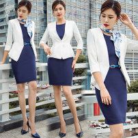 Professional dress suit S,M,L,XL,XXL Spring 2021 Long sleeves C89+Q43 Jacket, other styles Suit skirt 25-35 years old AI Shangchen 96% and above polyester fiber