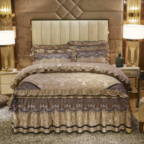 Bedding Set / four piece set / multi piece set Polyester (polyester fiber) other Solid color 128x68 Other / other Polyester (polyester fiber) 4 pieces 40 Bedspread type Qualified products European style other Reactive Print  Thermal storage velvet
