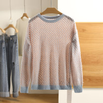 sweater Spring 2021 S,M,L,XL Coral Orange, blue Long sleeves Regular nylon 31% (inclusive) - 50% (inclusive) Regular Other / other 20C1MS351