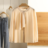 Lace / Chiffon Spring 2021 White, beige apricot S,M,L,XL Long sleeves singleton  easy Regular Other / other