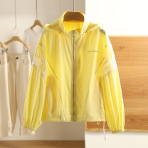 short coat Spring 2021 S,M,L,XL,XXL Yellow, pearl white Long sleeves routine routine singleton  Other / other 71% (inclusive) - 80% (inclusive) cotton