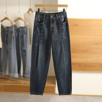 Jeans Spring 2021 Denim black, denim blue S,M,L,XL,XXL trousers routine 3K22308 Other / other 96% and above