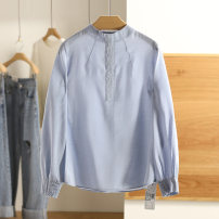 shirt Bright stone blue, bright red S,M,L,XL Spring 2021 polyester fiber 51% (inclusive) - 70% (inclusive) Long sleeves Regular Other / other 20C1S020