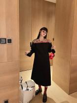 Dress Spring 2021 Short black, short white, long black, long white XS,S,M,L,XL Mid length dress singleton  Long sleeves street Others MONARTW OA038879 Europe and America
