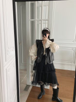 skirt Autumn 2020 XS,S,M,L,XL,2XL Black, white Middle-skirt street Natural waist Cake skirt other Type A More than 95% other MONARTW nylon Europe and America