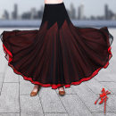 Modern dance bottom female Dancing Black + Red (single skirt), black + Rose (single skirt), black (single skirt) S,M,L,XL skirt Waltz, tango, Foxtrot, trot HN-1911-1 other