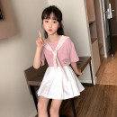 suit Other / other Violet, grey, black, pink, green, pink 110cm,120cm,130cm,140cm,150cm,160cm,170cm female summer Korean version Short sleeve + skirt 2 pieces routine There are models in the real shooting Socket nothing other other children Giving presents at school Class B Other 100%