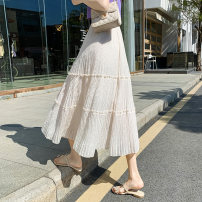 skirt Spring 2021 Average size Apricot black Mid length dress Versatile High waist A-line skirt Solid color Type A 25-29 years old YCL95905 More than 95% Chiffon Yichun Road other fold Other 100% Pure e-commerce (online only) 201g / m ^ 2 (including) - 250G / m ^ 2 (including)