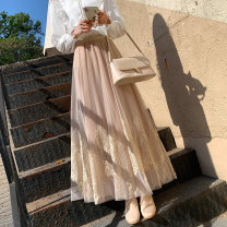 skirt Spring 2021 Average size Apricot grey purple black Mid length dress commute High waist A-line skirt Solid color Type A 25-29 years old YCL95894 More than 95% Lace Yichun Road other Gauze Korean version Other 100% Pure e-commerce (online only) 201g / m ^ 2 (including) - 250G / m ^ 2 (including)