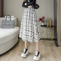 skirt Spring 2021 Average size Coffee white black Mid length dress Versatile High waist A-line skirt lattice Type A 25-29 years old More than 95% Yichun Road other Lotus leaf edge Other 100% Pure e-commerce (online only) 401g / m ^ 2 (inclusive) - 500g / m ^ 2 (inclusive)