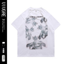 T-shirt Youth fashion Black, white routine S,XL,L,M,XXL VIVGAE Short sleeve Crew neck easy Other leisure summer VJ039 teenagers routine American leisure other 2021 other printing Cotton ammonia
