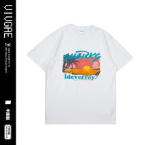 T-shirt Youth fashion white routine XL,L,M VIVGAE Short sleeve Crew neck easy Other leisure summer teenagers routine American leisure other 2020 other printing Cotton ammonia