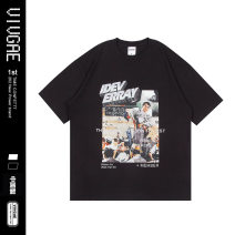 T-shirt Youth fashion Black, white routine XL,L,M VIVGAE Short sleeve Crew neck easy Other leisure summer EB104 teenagers routine American leisure other 2020 other printing Cotton ammonia