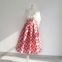 skirt Spring 2020 S. M, l, XL, 2XL, customizable Pink Mid length dress Sweet High waist Fluffy skirt other Type A Ziweiyi Ruili
